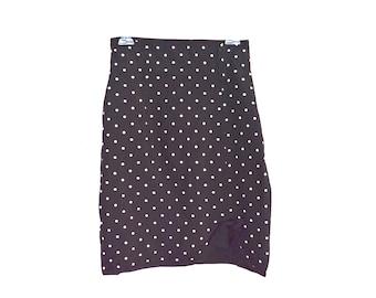 90's High Rise Polka Dot Pencil Skirt size- S/M