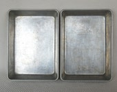 Set of 2 Vintage Mirro Small Bar Pans 9.25 X 6.5 X 2 inches 23 X 17 X 5 cm Perfect for making Lemon Bars