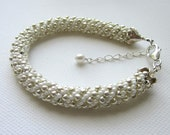 Beaded Bracelet Womens Jewelry Birthday Gift Woven Russian Spiral Rope Adjustable