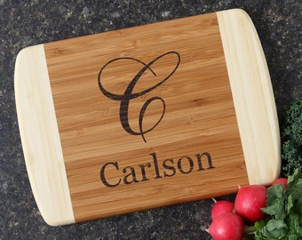Personalized Cutting Board, Personalized Wedding Gifts, Engraved Bamboo Cutting Board,  Cutting Boards, Housewarming Gift-11 x 8 D3