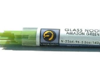 Fusing Glass Supplies COE 96 Amazon Green Uroboros Noodles 5 oz Tube UN1033