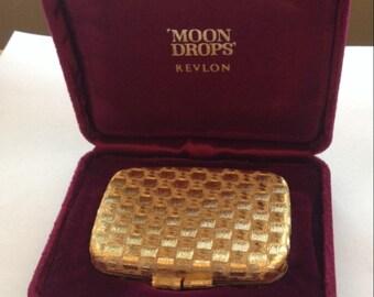 Sale Vintage Revlon Moon Drops Compact and Case