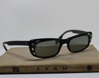 Cat Eye Sunglasses 1950s Rhine Stones