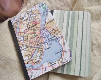 Montreal Canada Pocket Notebook Set Mini Jotter Map wedding favor journal Gift Travel Jotter Map Favor Lunchbox notes Cartography theme