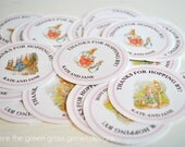 Beatrix Potter Peter Rabbit Sticker Labels Pink Edition