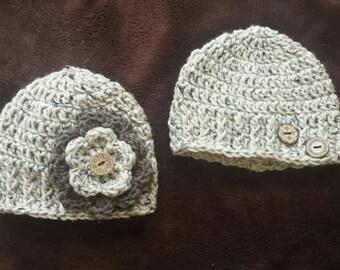 Newborn  Boy and Girl Hats