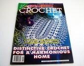 Vintage DECORATIVE CROCHET Pattern Booklet - November 1994 - #42  - Crochet Bedspreads - Tablecloths - doilies - Art Deco Ideas and more