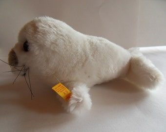 Steiff seal, Cosy Baby seal, w.button/flag, made in Germany 884