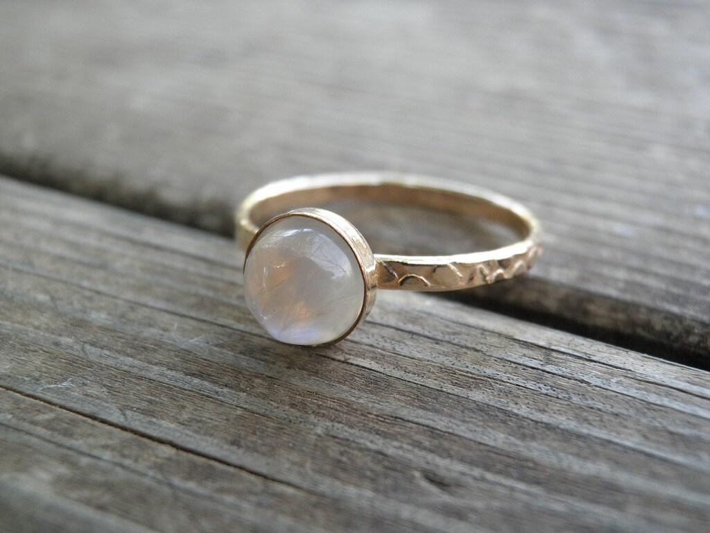 moonstone ring gold stacking rings birthstone rings