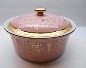 Vintage Pink Hall Casserole Dish