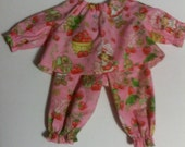 "Baby Alive  And Waldorf Doll Clothes Strawberry Shortcake Pajamas 10"" 12"" 15"""