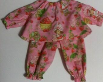 "Baby Alive  And Waldorf Doll Clothes Strawberry Shortcake Pajamas 10"" 12"" 15"""