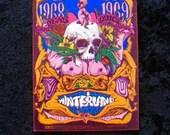 Grateful Dead New Years Concert Postcard BG 152 Orig Psychedelic Concert Flier San Francisco 1968 Skull