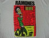Vintage RAMONES I wanna Be Well Punk Rock Joey Dee Dee Ramone Concert Tour Shirt XL