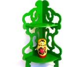 Up Cycled NEON Green Vintage CORNER SHELF
