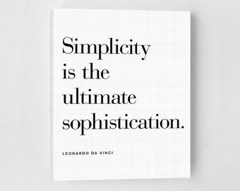 Simplicity, Canvas Quotes, Canvas Art, Minimalist Poster, Office Art, Art Print, Scandinavian Print, Inspirational Quote Art Print, Quotes