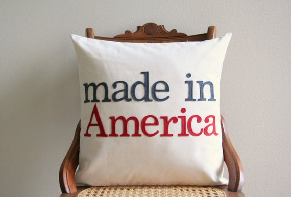 Throw Pillow Covers Made In Usa : made in America decorative pillow cover 18 x 18