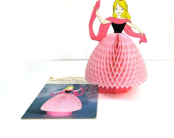 Vintage Cinderella party centerpiece - Pink princess decoration