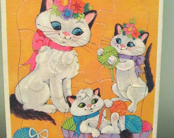 Kittens At Play Frame-Tray Puzzle