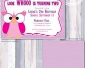 Look Whooo Owl Invitation