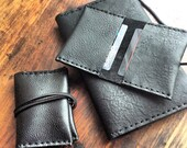 Maujer card case, handmade leather card holder, handmade leather card cases, wallets, ID case for men and women custom made by Aixa Sobin