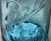 Vintage Turquoise Ball Mason Jar #4