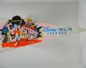"Disney MGM studio Catastrophy Canyon Felt Souvenior Pennant Banner 25 x 8"" AS IS"