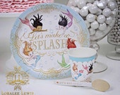 Mermaid Party Paper Dinnerware Set by Loralee Lewis
