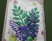 Hand Made Beautiful Butterfly Greeting card Set of 8 with Envelopes Stampin up