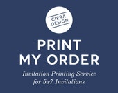 PRINTED 5x7 Invitations