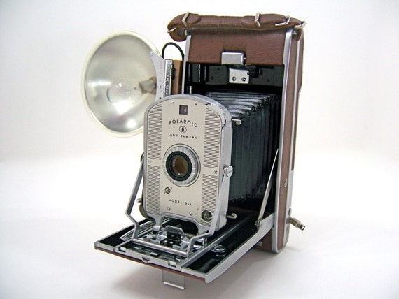 Polaroid Land Model 95a Camera With Case Flash Gun Wink