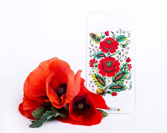 Poppies iPhone Floral Case - iPhone 6 / 6 Plus Case - iPhone 5 / 5S Case - iPhone 4 Case - HTC - Samsung - Lenovo - Sony - Nokia