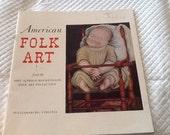 Vintage 1966 AMERICAN FOLK ART Abby Aldrich Rockefeller Folk Art Collection Book