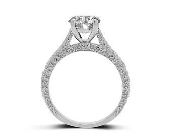 2 Carat Diamond Engagement Ring - Platinum Diamond Engagement Ring - Solitaire Diamond Engagement Ring - GIA Certificate - GIA Diamond Ring