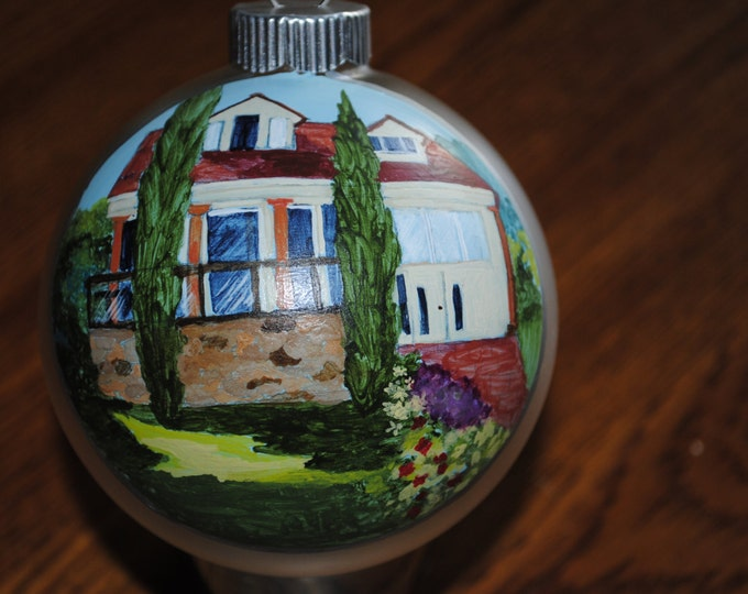 Custom Hand Painted Ornament Great Memories done from photo - sold