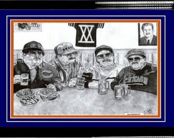 """8"""" x 10"""" Da Bears! Superfans ART - Matted & Framed"""