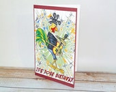 Birthday Card Make It Rock Guitar Rocker Rooster