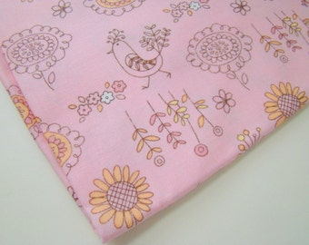 Chick a Dee Chick a Doo Fabric, Robert Kaufman, Cute Bird Fabric, OOP