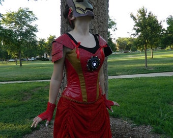 Steampunk Avengers Ironman Cosplay Dress
