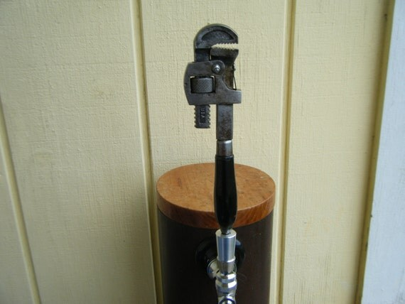 Antique Pipe Wrench Beer Tap Handle For Your By Ironoflife