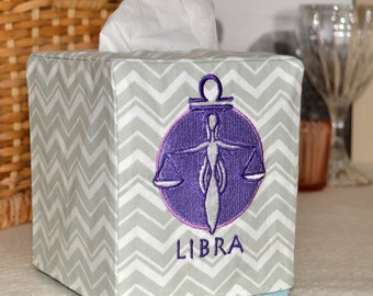 50% OFF!  Zodiac Signs Libra Tissue Box Cover
