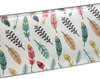 CHECKBOOK COVER - Flying Feathers