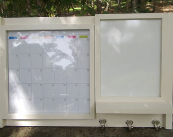 Dry Erase Magnetic Calendar/Message center/Dry erase board Center/Message Board