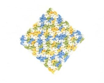 Crochet Dishcloths, Cotton, Multicolor