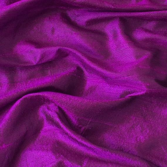WHOLESALE OFFER 10% OFF - 6 Yards Purple 100 Percent Pure Silk Dupioni Fabric