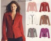 New Look 6516  Misses Peplum Jacket Multi Size Pattern 8 - 10 - 12 - 14 - 16 - 18
