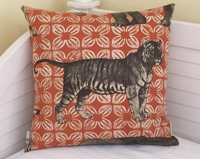 Thomas Paul for Duralee Bazaar -  Tiger Indoor Outdoor Designer Pillow Cover 20x20