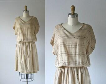 vintage 1980s dress / slouchy dress / Desert River Bed
