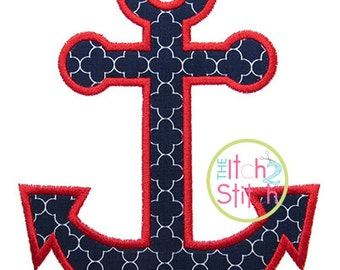 """Anchor Applique Design For Machine Embroidery (""""One Thing"""" font is NOT included) INSTANT DOWNLOAD now available"""