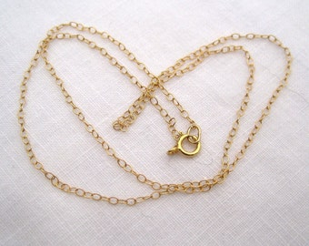 Gold Filled  14K Chain Necklace - Handmade Add a Chain